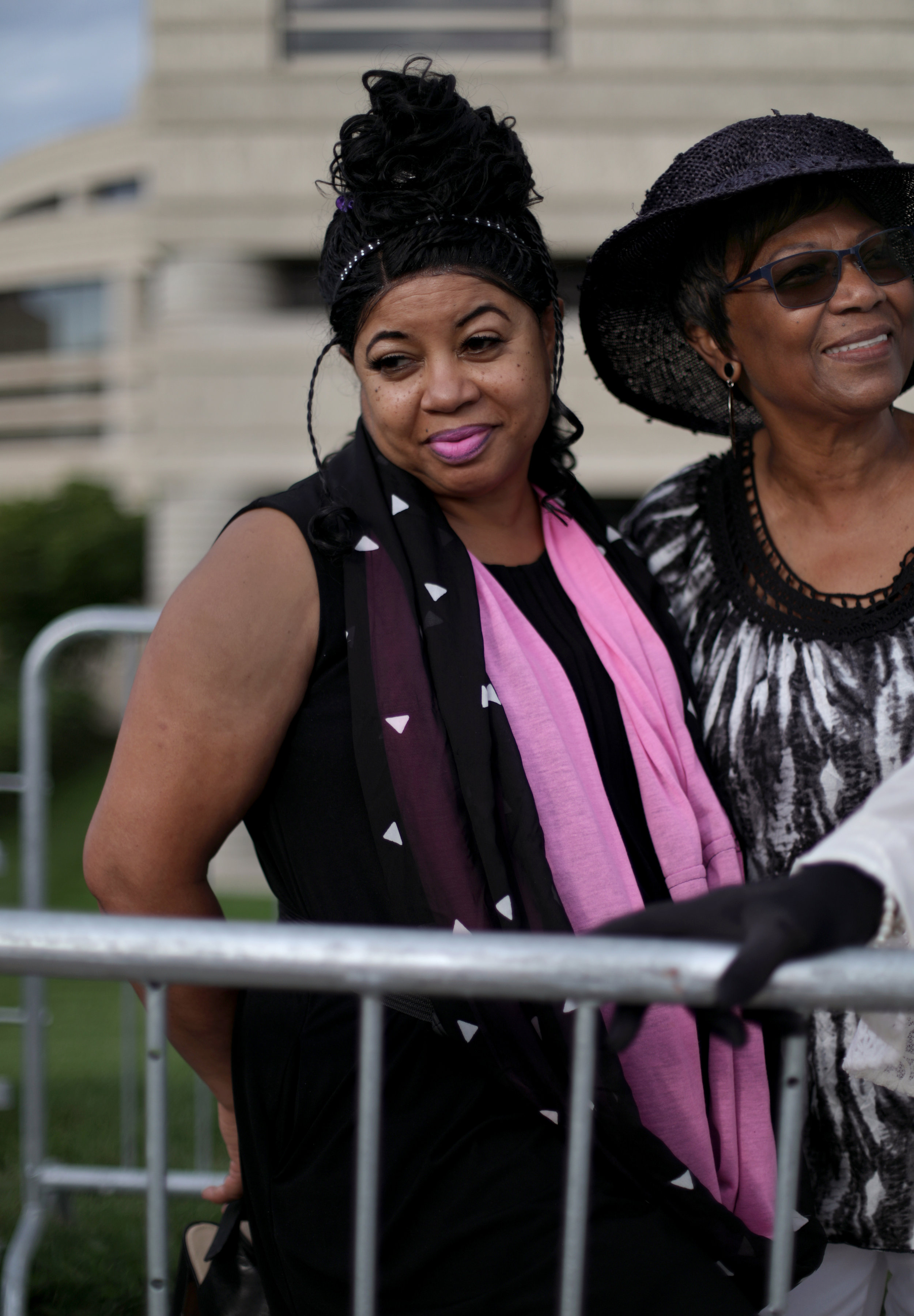 Sheila Cathey, 62 of Chicago, left and Rev. Bonnie Gardner, 68 of Redford.