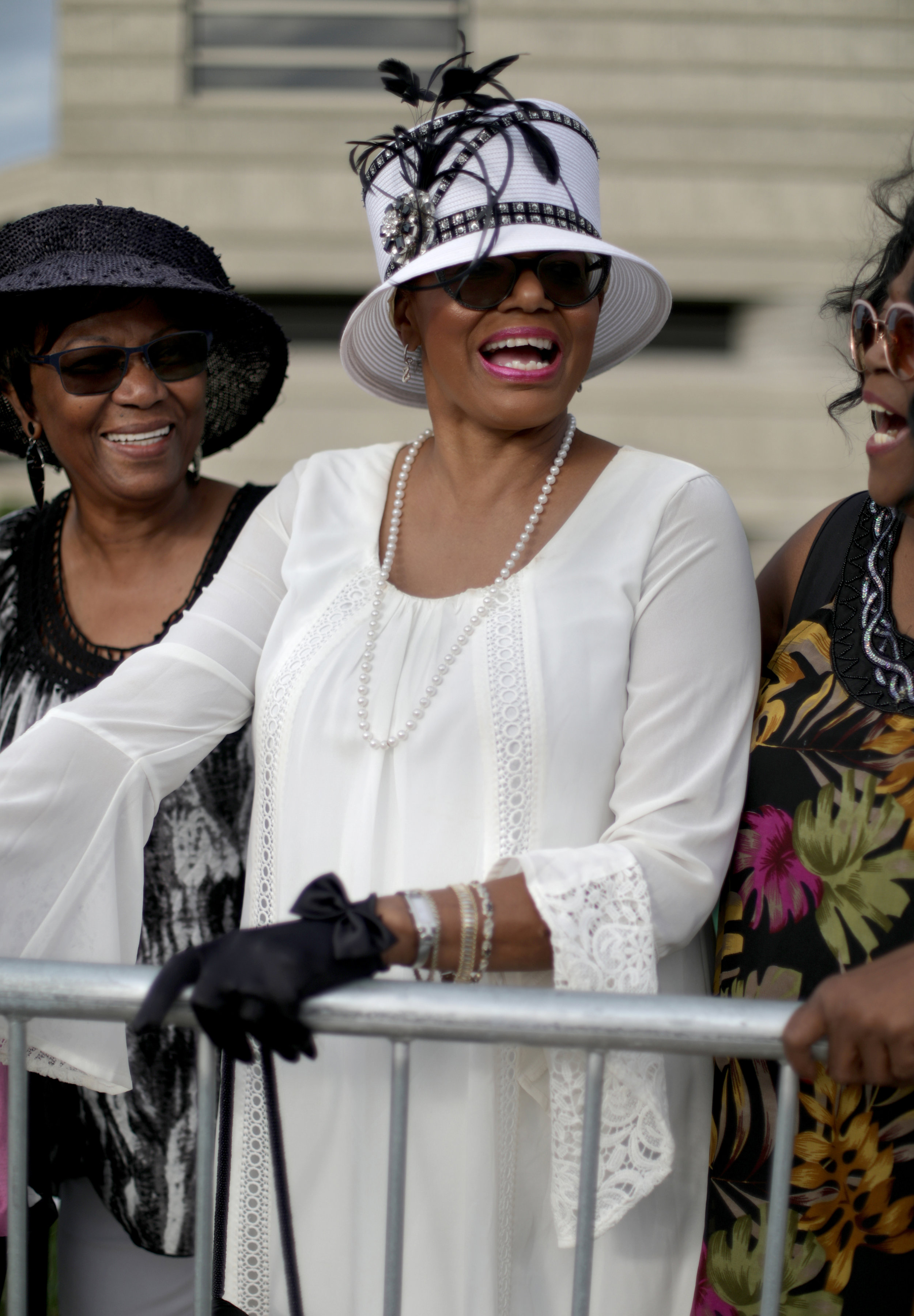 Rev. Bonnie Gardner, 68 of Redford, MI from left DeLoris Taylor, 63 of Kathleen, Ga. and Pat Bryant, 68 of Tennille, Ga.