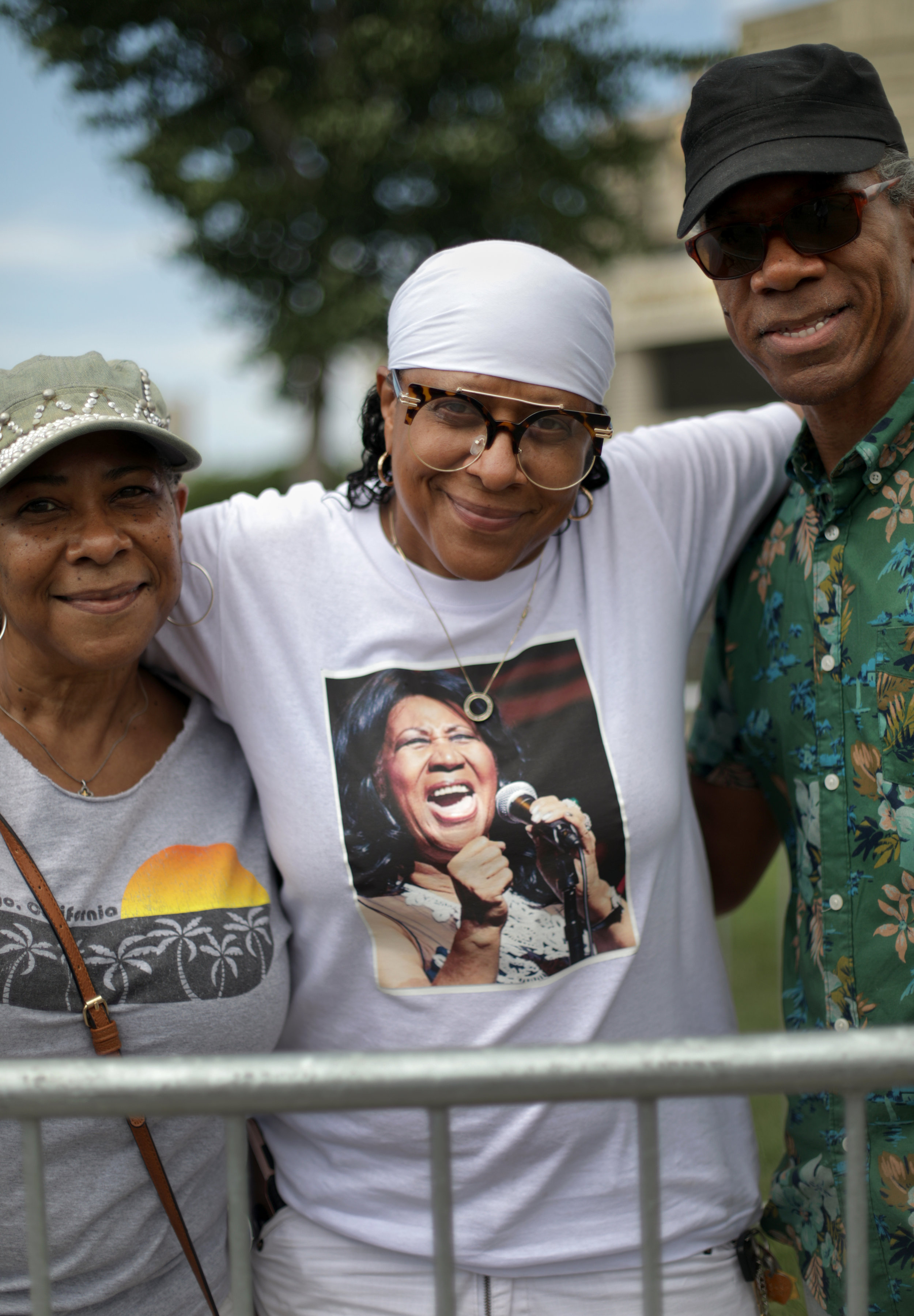 Kim Bradley, 50 of Detroit from left with her siblings Krystal Troutman, 56 of Detroit and Phillip Troutman, 50 of Southfield.