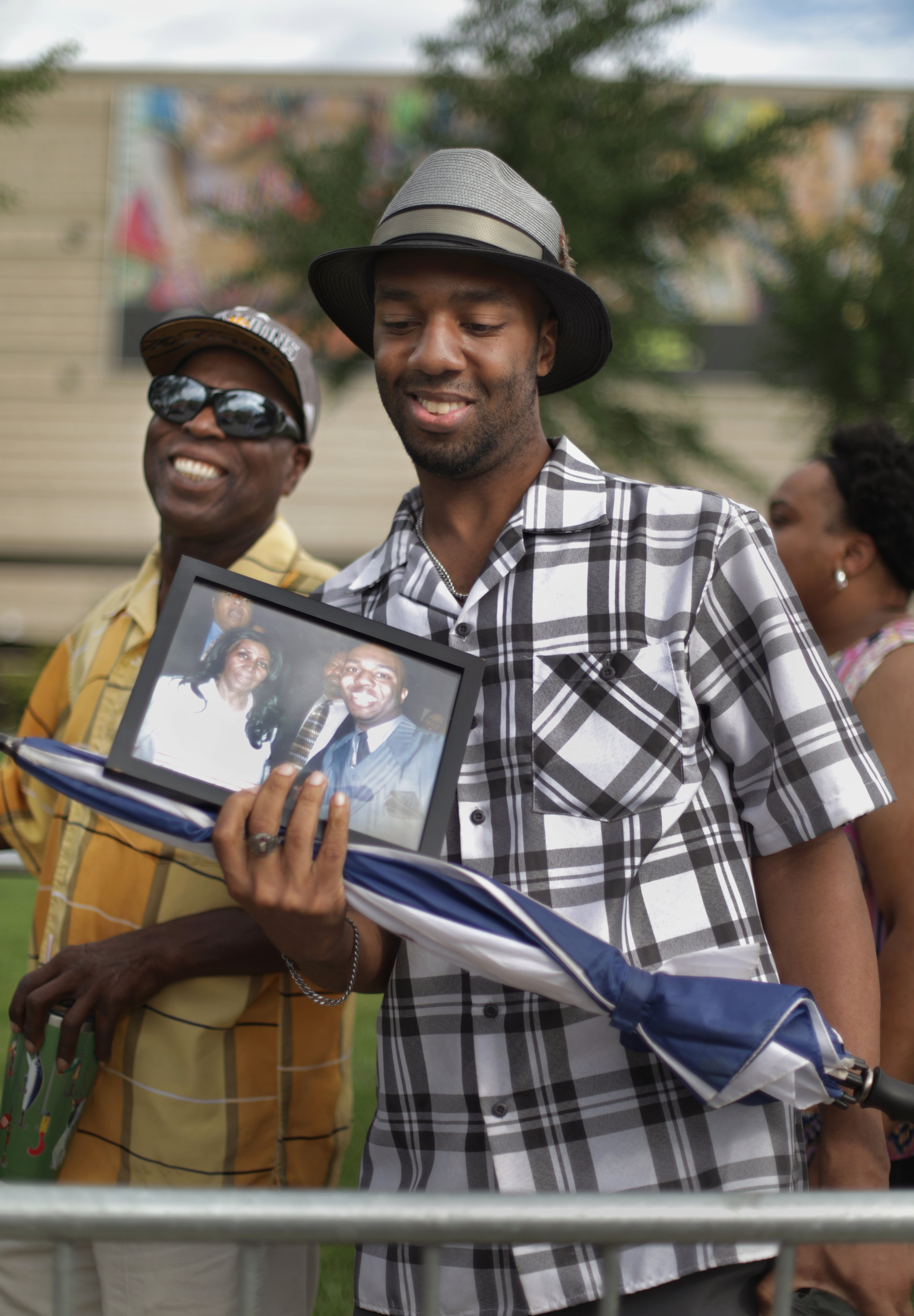 Jonathan Townsend, 33 of Pontiac, right and Gregory White, 65 of Shelby Township.