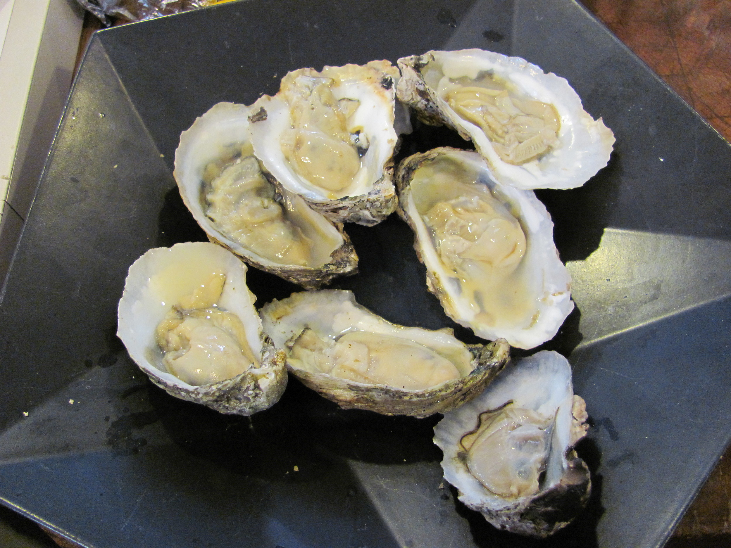 Smoked oysters... ok, so a lot of this stuff isn't kosher. But it's beautiful!