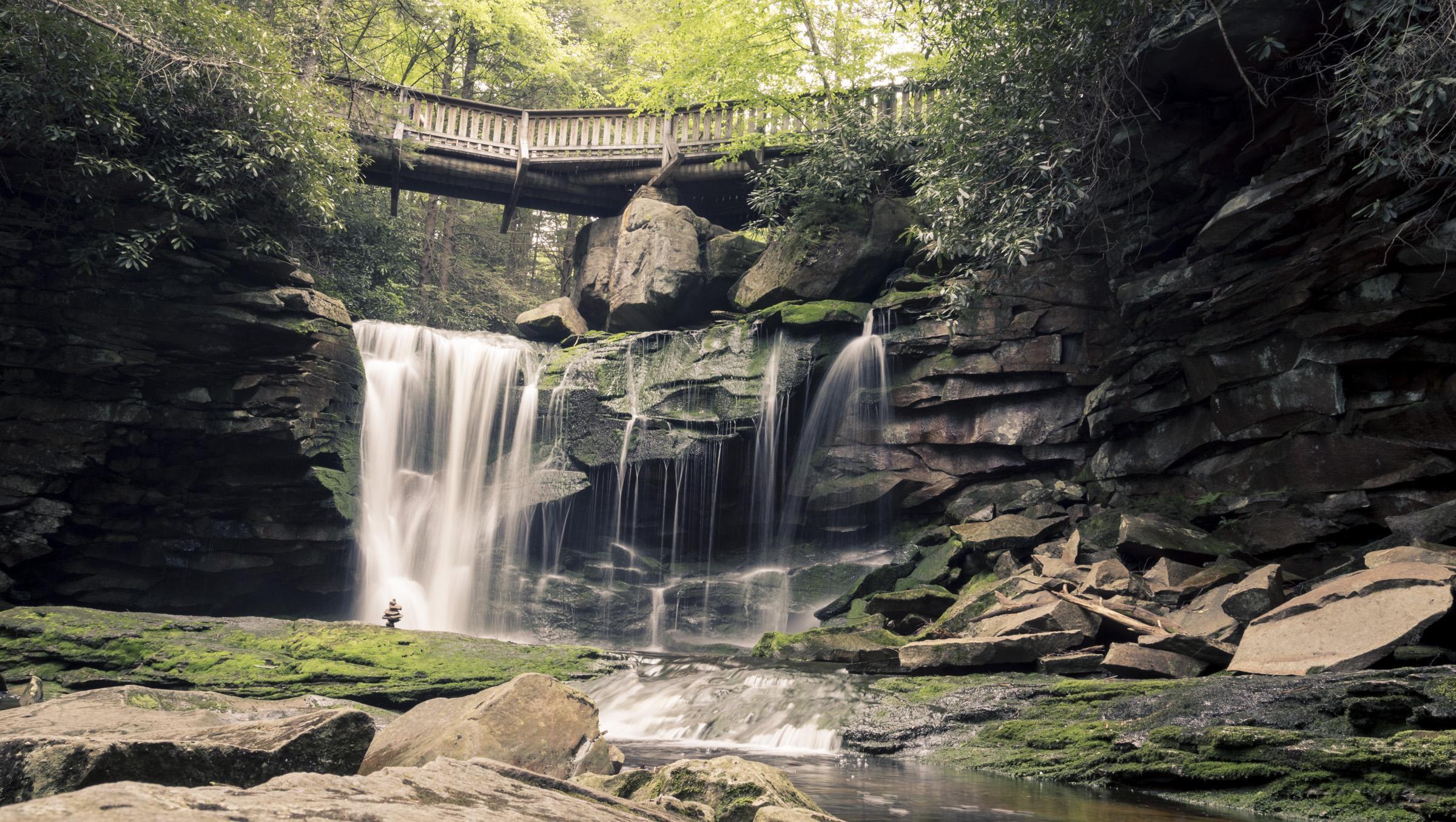 The first of the cascades at Elakala Falls.