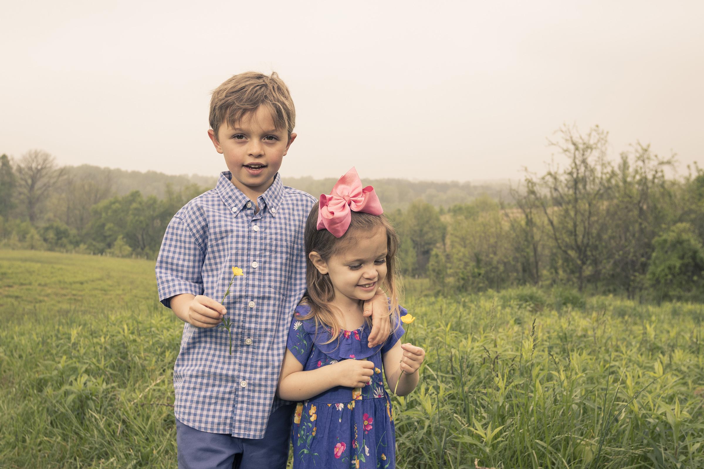 Ellicott City Howard County Conservancy Family Portrait Kids