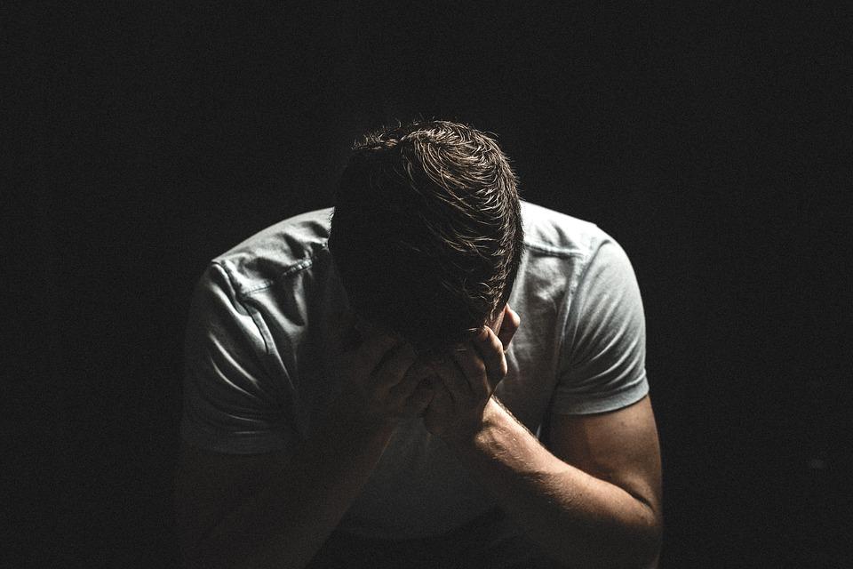 man going through hard times