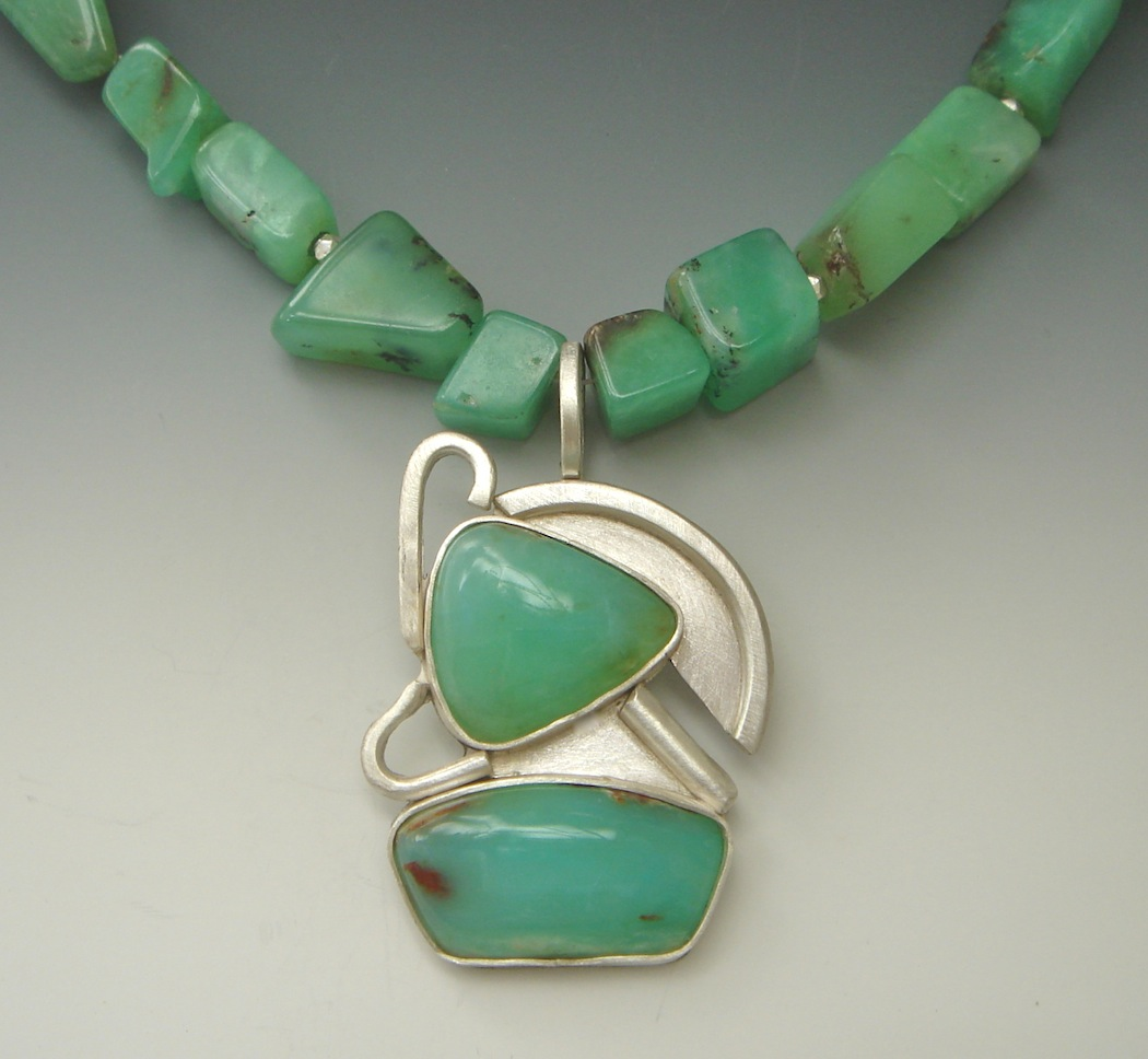 Sea Breeze Andean Opals, Sterling Silver $385