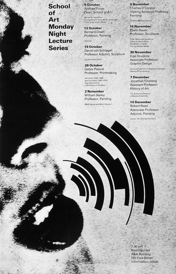 poster for yale school of art lecture series, 1982