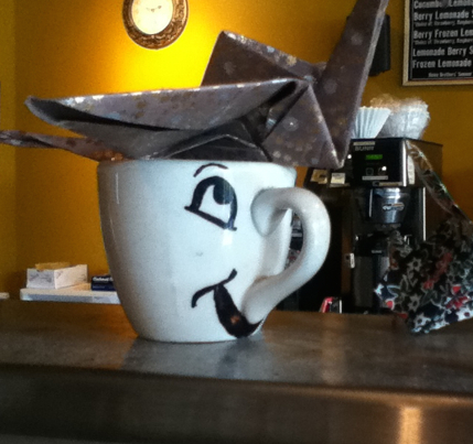 Chip the Teacup, at the Bardstown-Eastern Heine Brothers