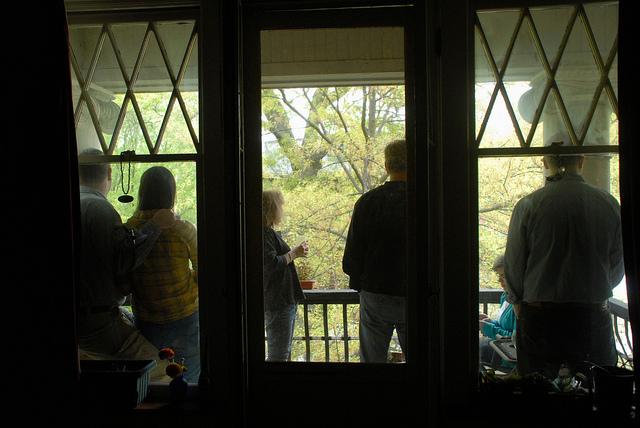 People-watching on the balcony