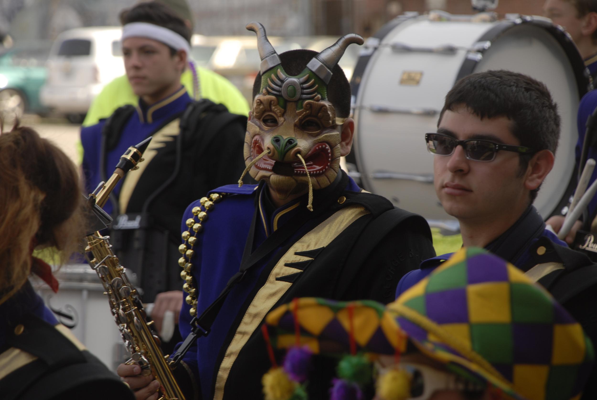 Mardi Gras parade in Galveston, TX