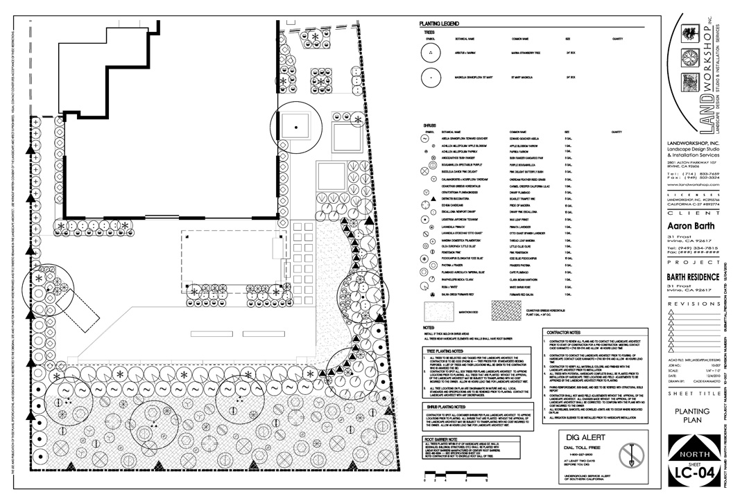 PLANTING PLANS ARE TYPICALLY USED FOR PLACEMENT, LOCATION, AND GUIDANCE WHEN INSTALLING PLANT MATERIAL.