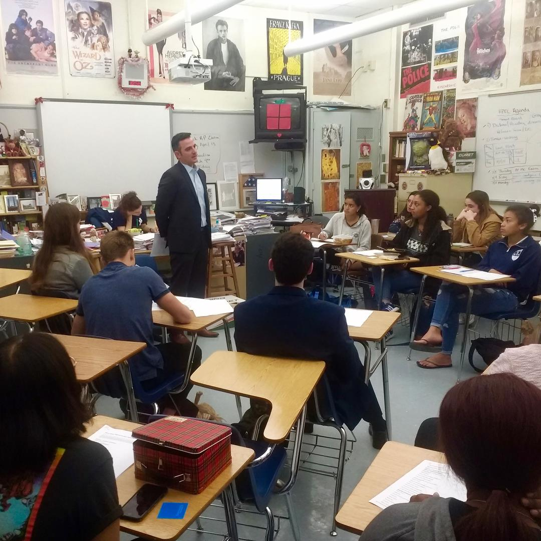 Michael Epstein goes back to his alma matter at  Miami Palmetto Senior High School  to talk about the  Reach for the Stars  Scholarship and inspire young students to apply.