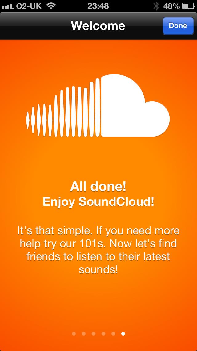 The SoundCloud app
