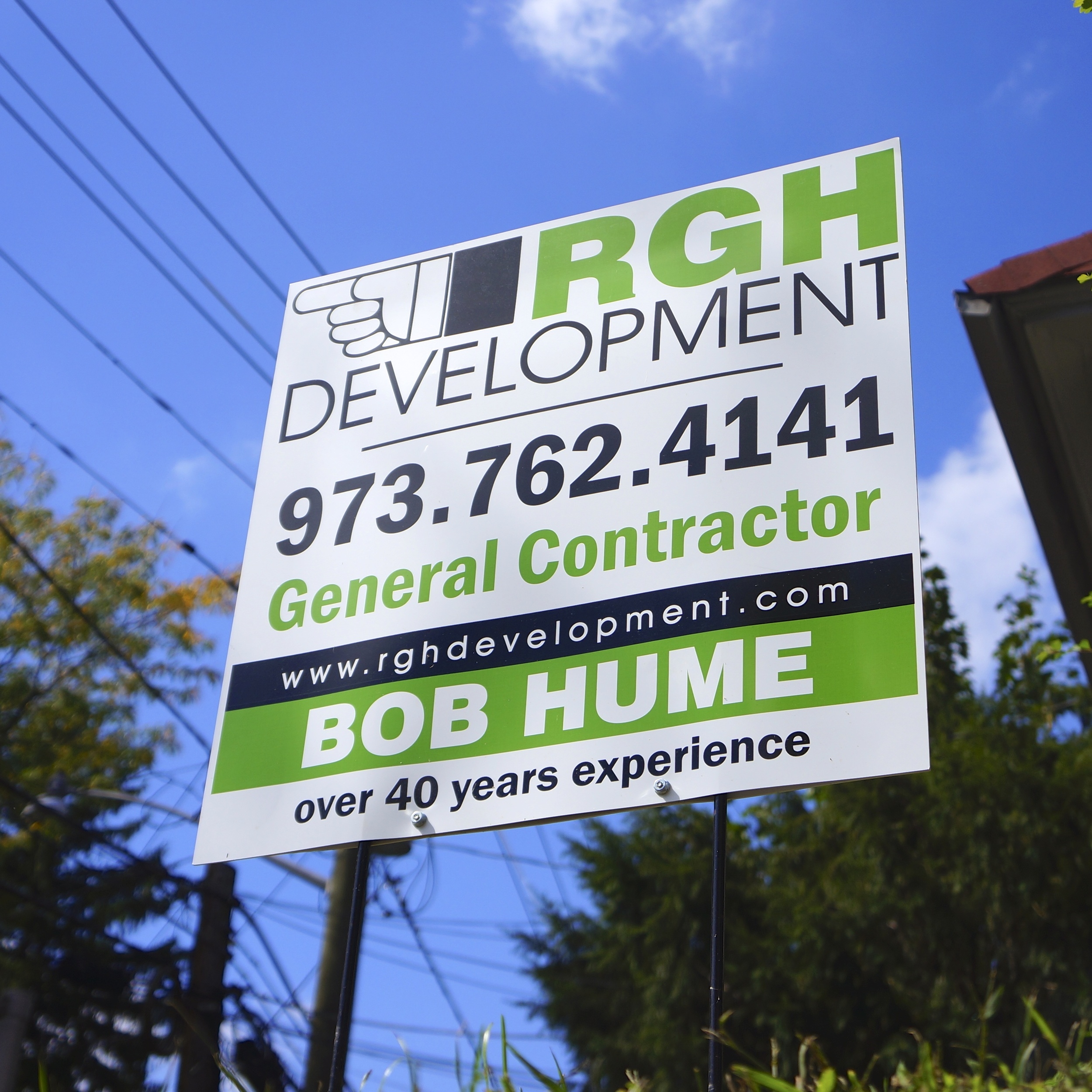 RGH | Bob Hume's new construction sign
