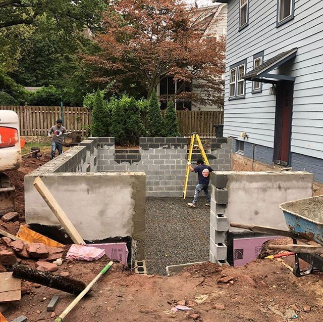A new foundation for this addition in Maplewood 🔨. It's gonna be fun to watch this structure go up. @pvbuilds