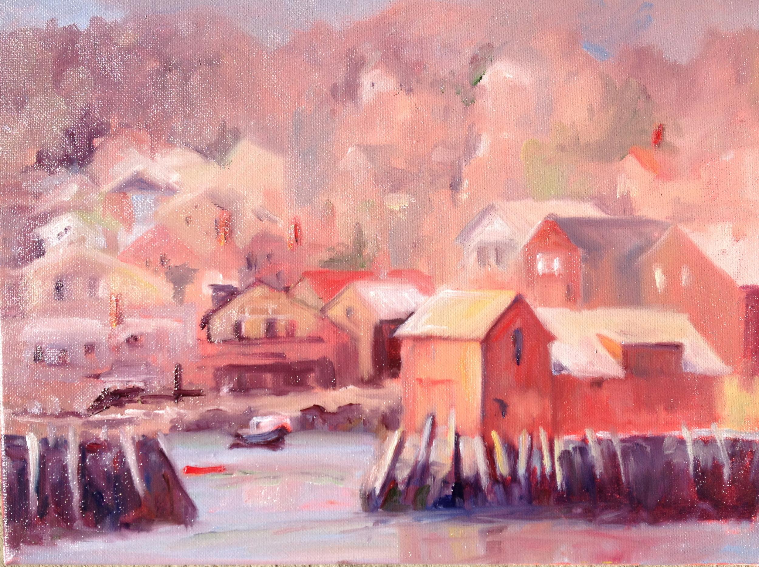 Rockport Harbor and Hillside