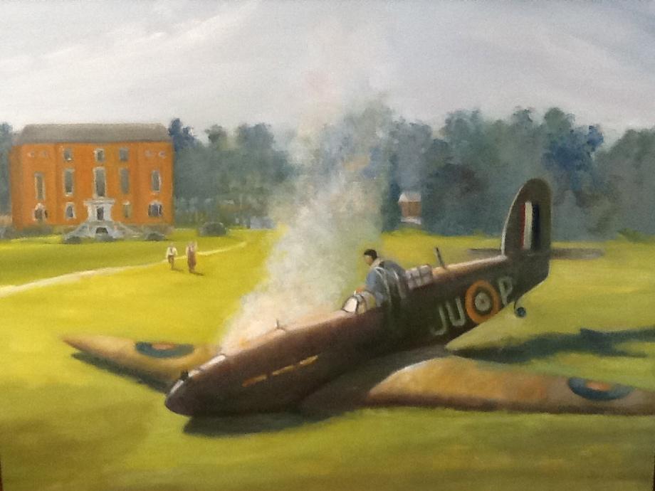 """Crash on Grounds of RAC, England"""