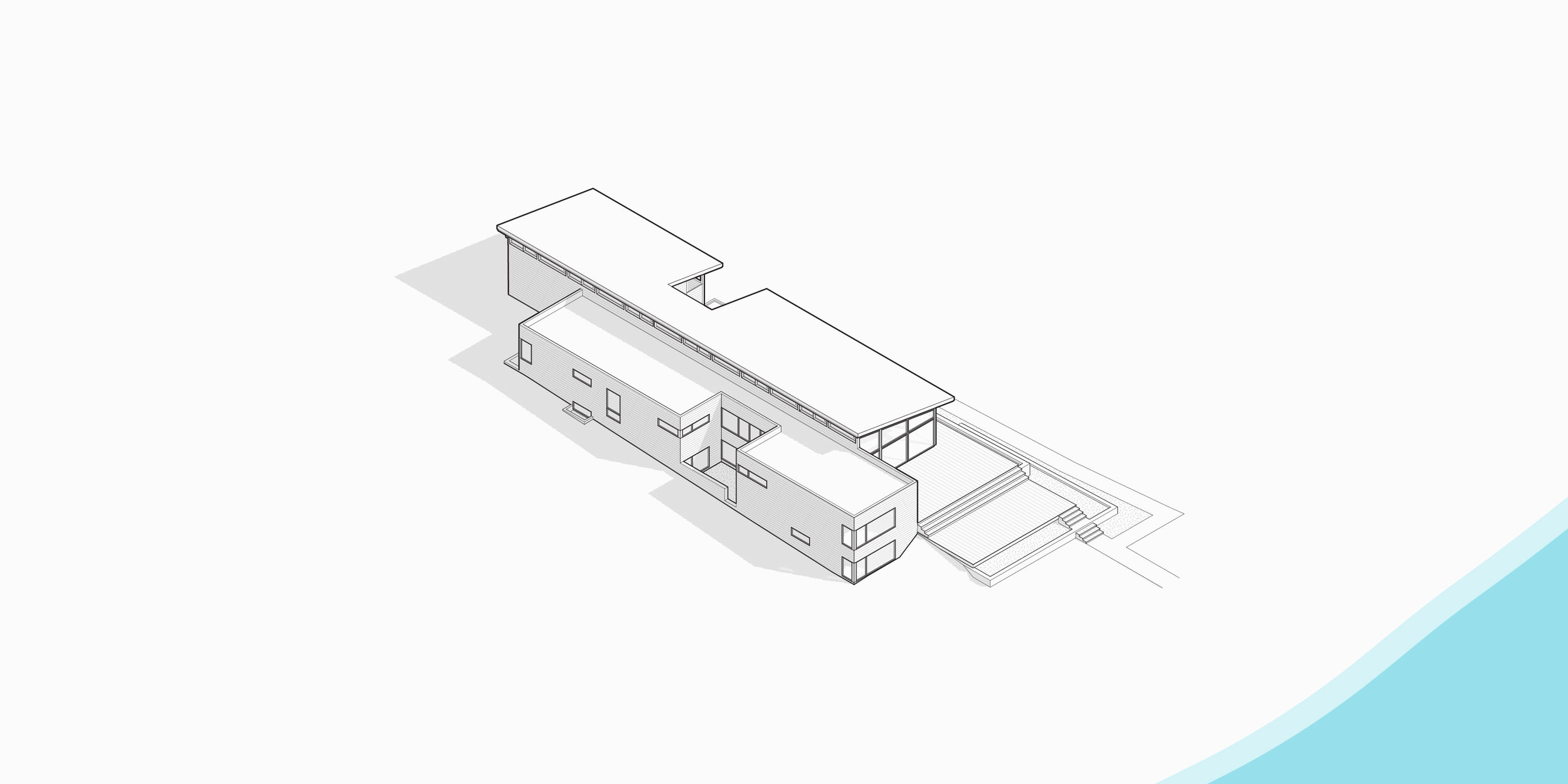 Diagram of the Higgins Lake House (Photo courtesy of Jeff Jordan Architects)