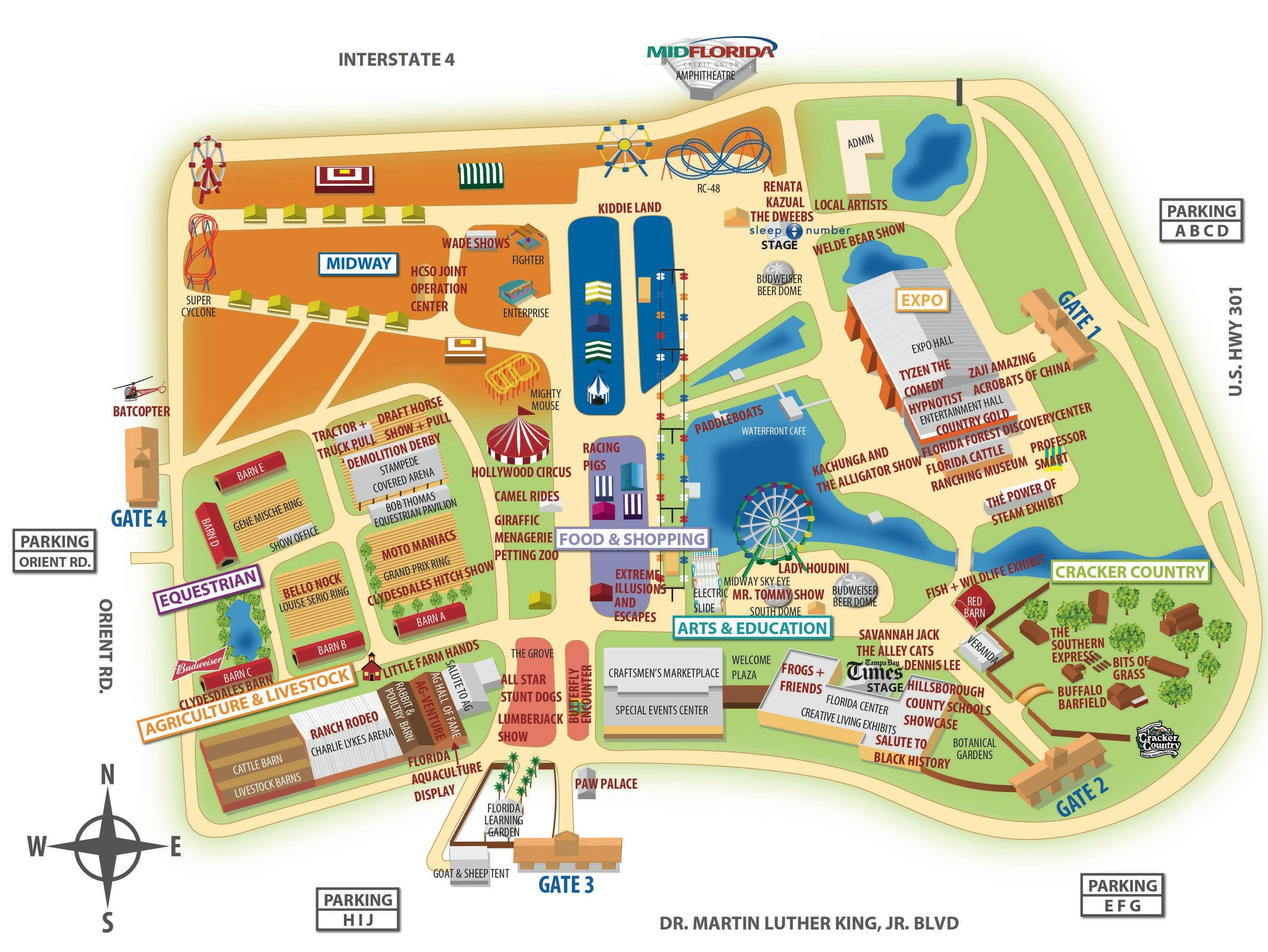 State Of Florida Map FLORIDA STATE FAIR 2019 MAP LAYOUT — TOUR OF DESTRUCTION