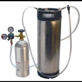 A Corny Keg, 2kg Co2 tank and regulator