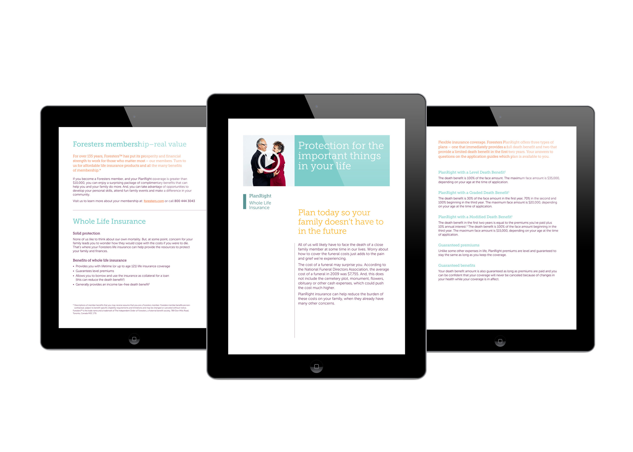 Foresters iPad Consumer Brochure Layout