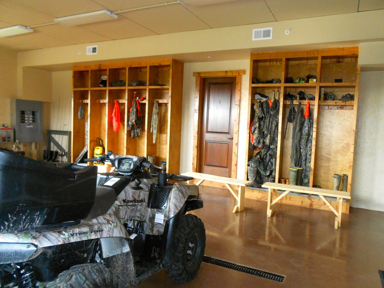 Extra heated garage in the basement for the hunting gear and four wheelers.