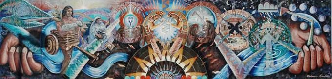 Mural, South Broadway Cultural Center Albuquerque NM