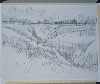 Drawing of Canyon on Wallis Board.