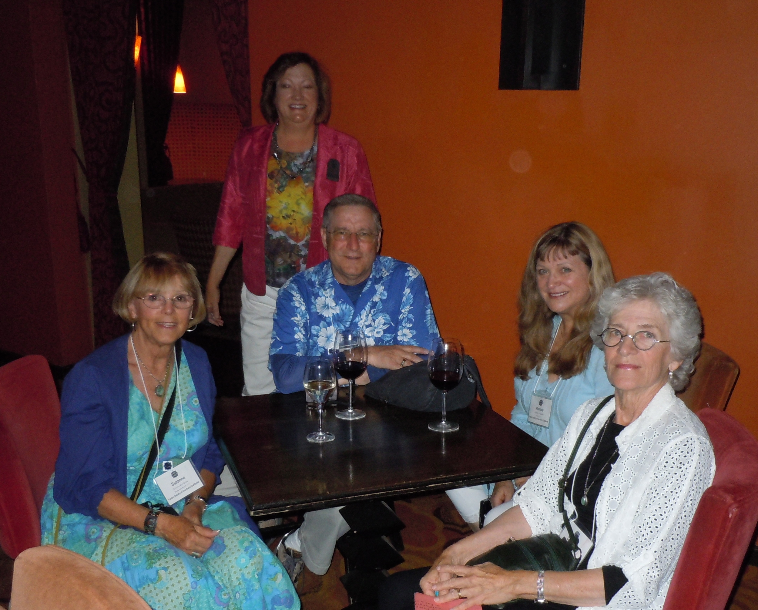 Sue, Rhonda, Scott, and Catherine at PSSC cocktail party.
