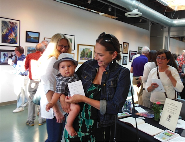 Our youngest visitor to the exhibition.