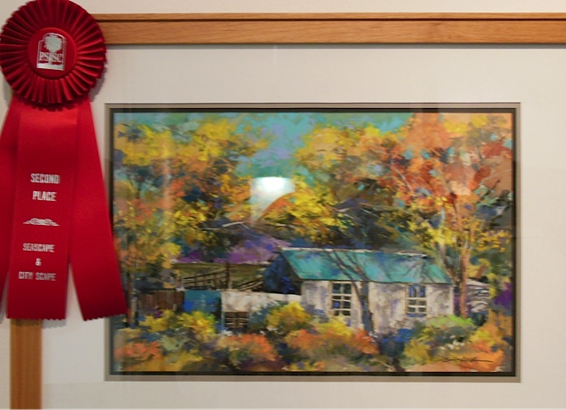Mike gets a second place award and also sold his piece!
