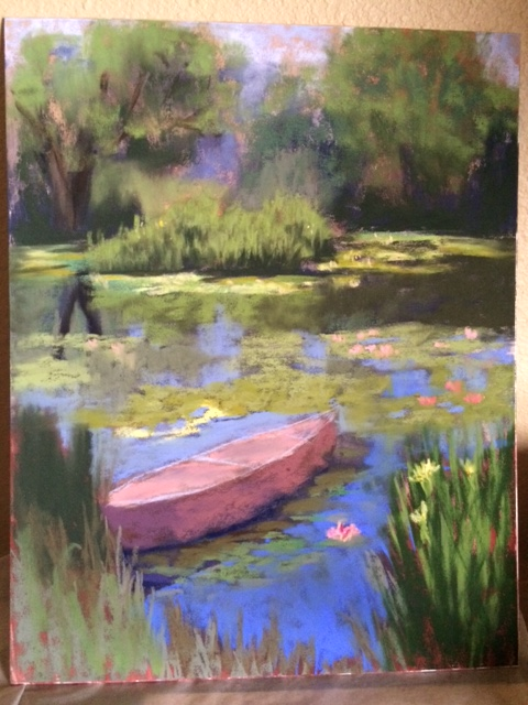 Margaret Lindsey's plein air painting