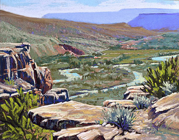 """Chama Escarpment"" Pastel - Best of Show - 2014 Santa Fe Paint Out - Plein Air Painters of New Mexico"