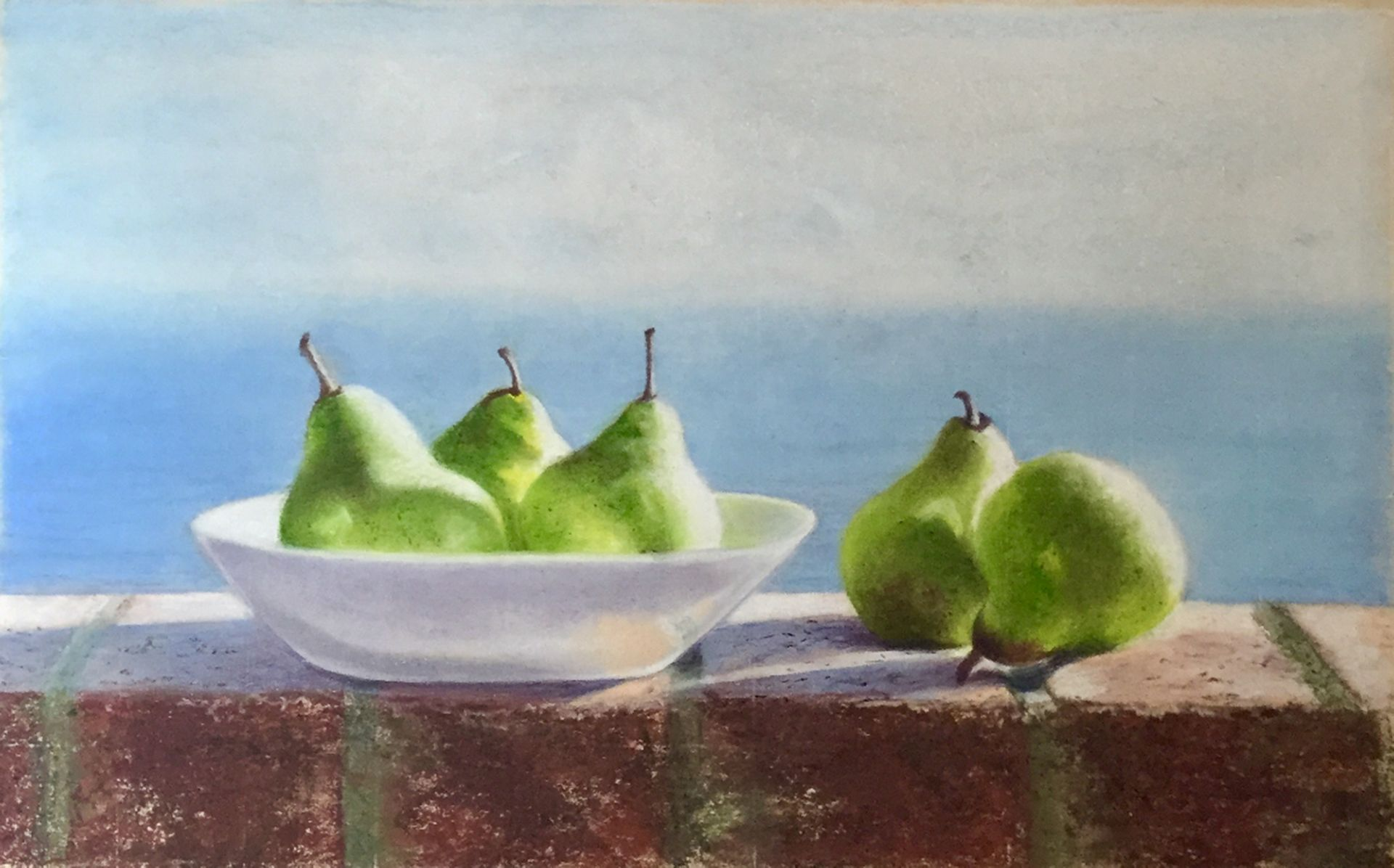Pears at First Light by Claudia Ryan