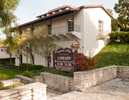 Malaga Cove Library  2400 Via Campesina, Palos Verdes Estates Gallery hours: Thurs.- Fri., Noon to 4pm Saturdays, 10am - 5pm. Closed Sundays. Other hours by Appt.