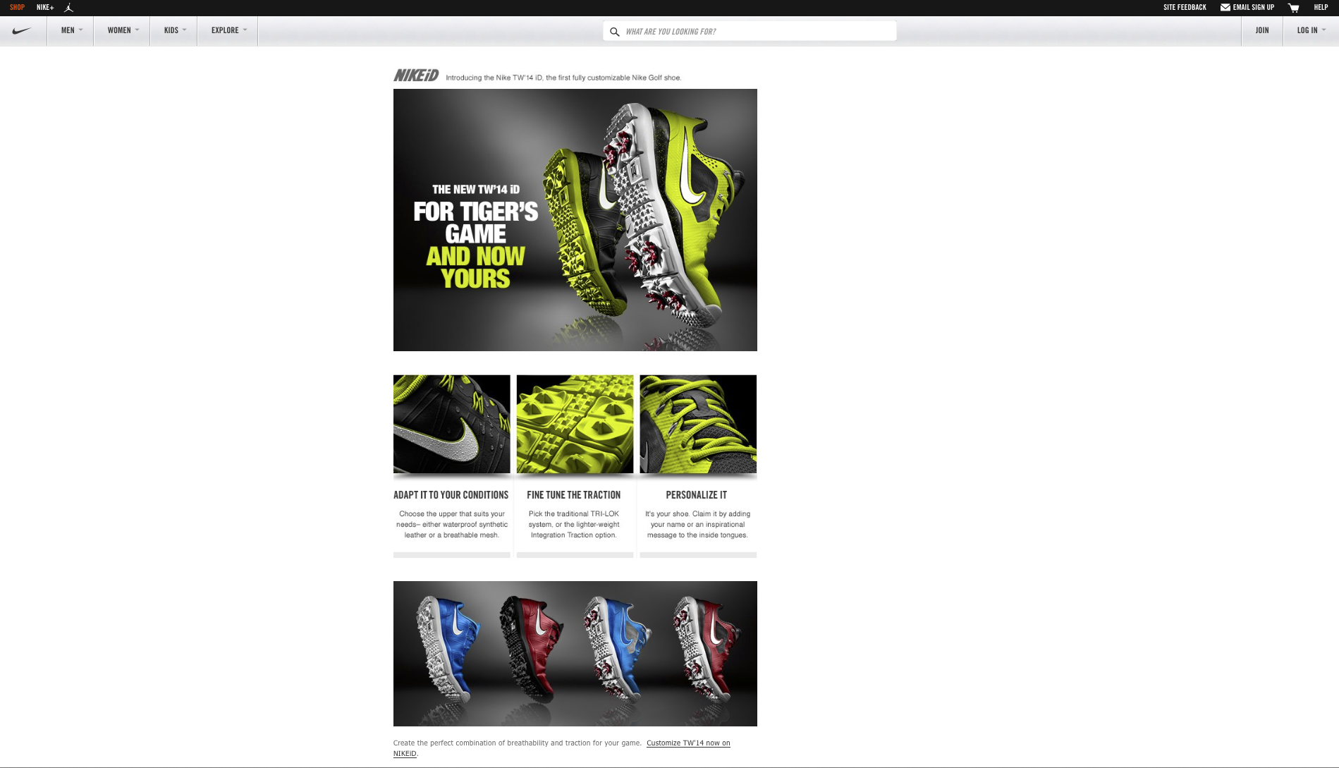 Imagery used at  Nike.com