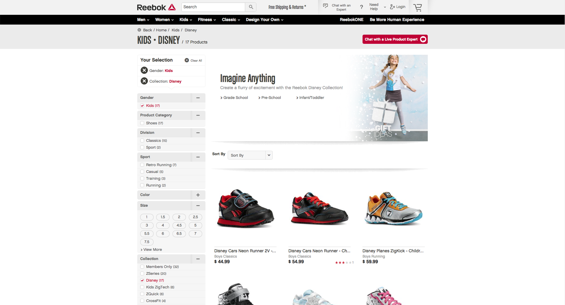 Imagery in use at Reebok.com