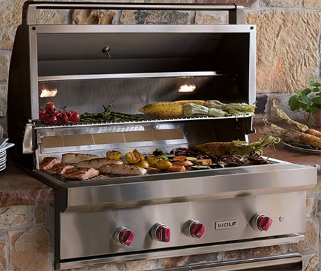 "Wolf 42"" Stainless-Steel Outdoor Grill"