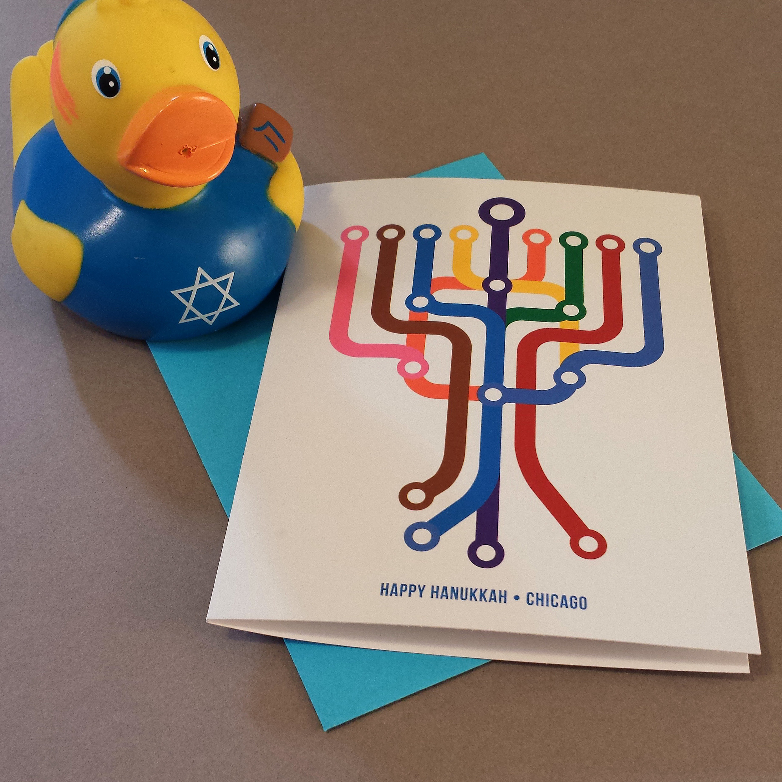 CTA Hanukkah Cards - Click to buy at TransitTees.com