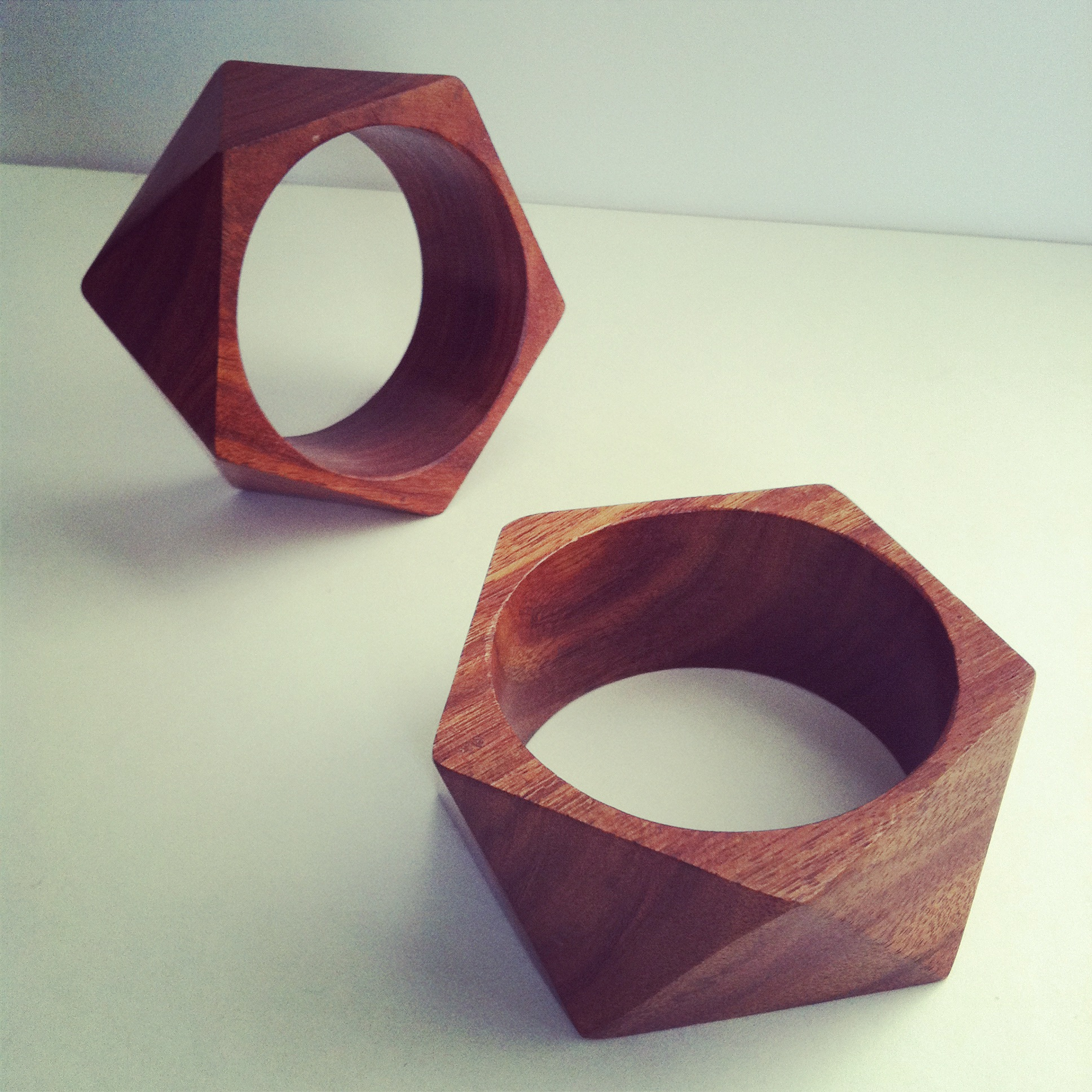 Faceted Wood Bangle