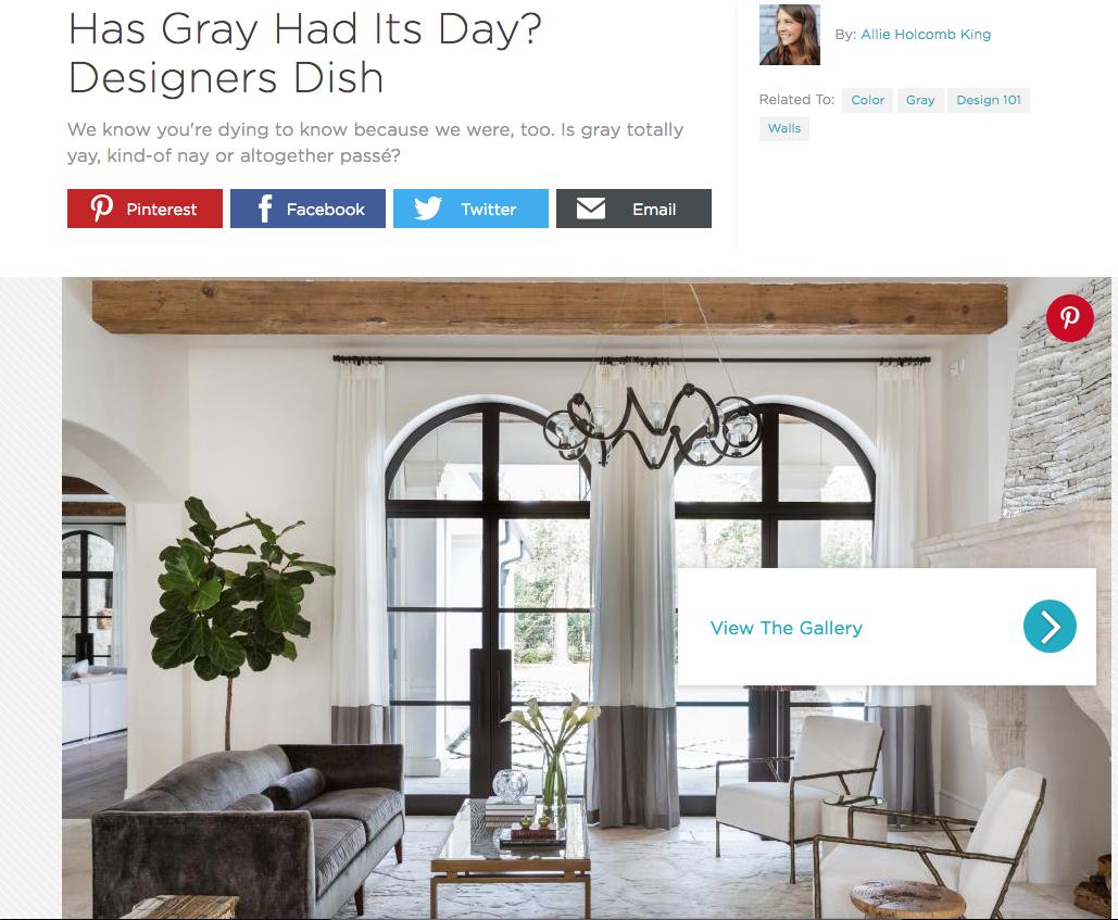 Breeze Giannasio Interiors - HGTV - Has Gray Had its Day?