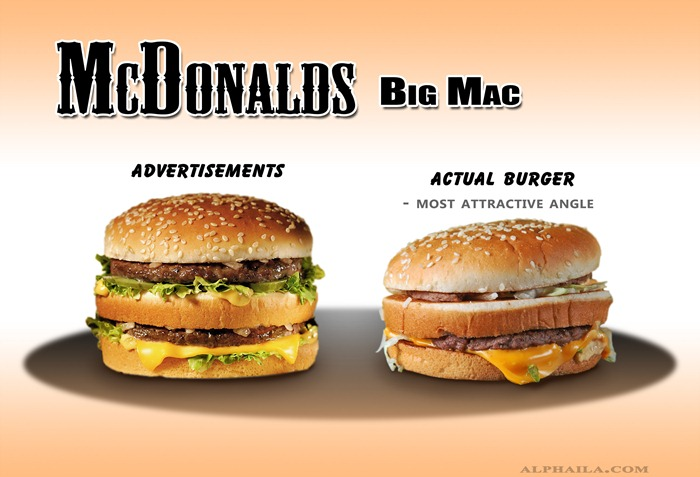 """Is McDonalds guilty of false advertising? The ASA says """"no!"""""""