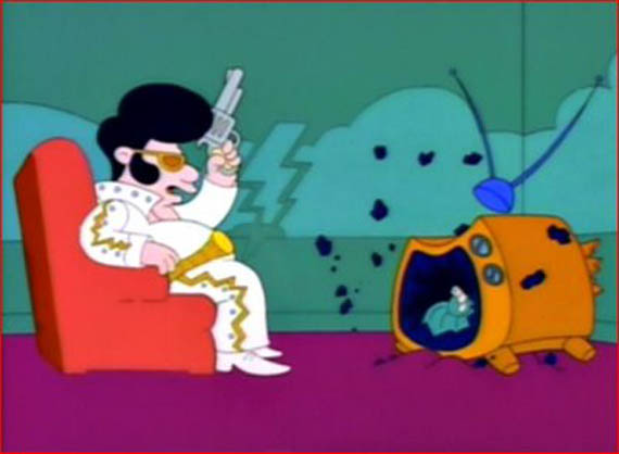 """""""Ah this show ain't no good!"""" - Elvis loved television but he sure hated advertising."""
