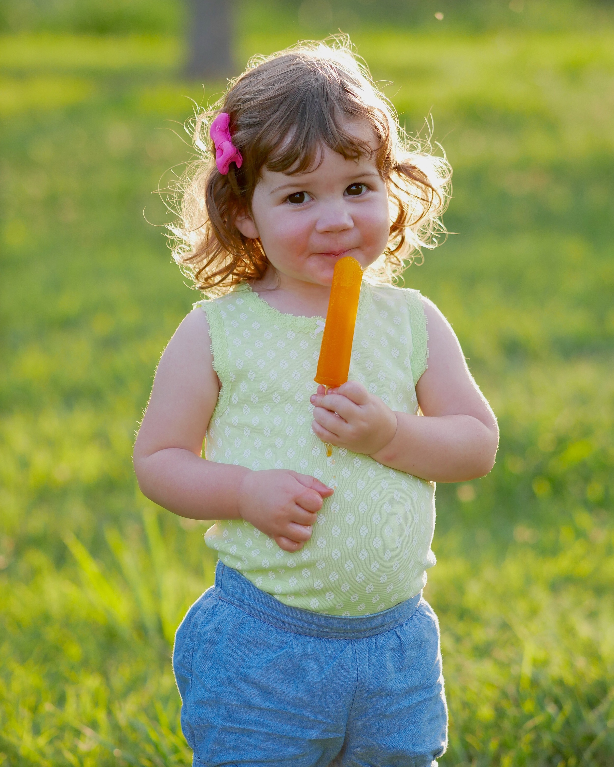 Annabelle with a popsicle