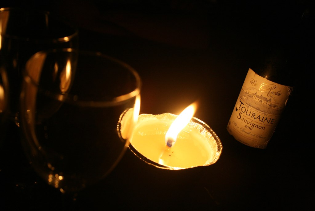 Wine by candlelight, anyone?