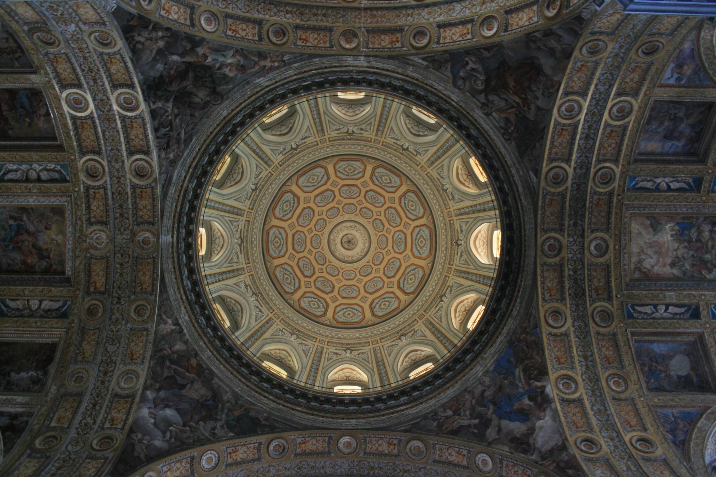 Inside Gesù Nuovo.