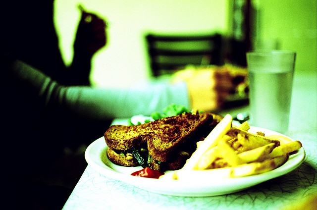 This is a grilled cheese sandwich from one of my favorite diners in Seattle. I miss them (i.e. the sandwiches) too.