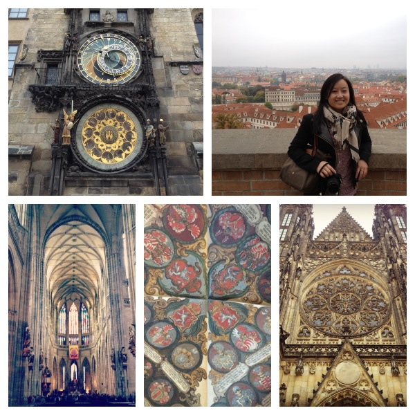 Scenes from Old Town Square and Prague Castle.