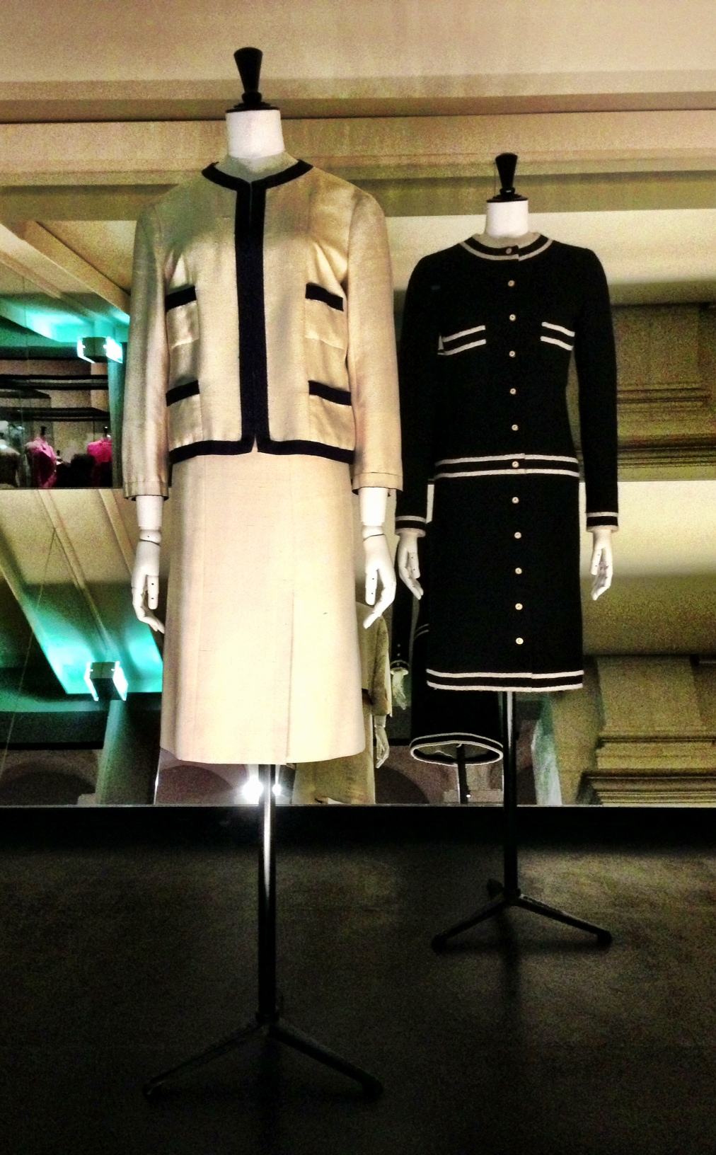 Two iterations of Chanel suits.