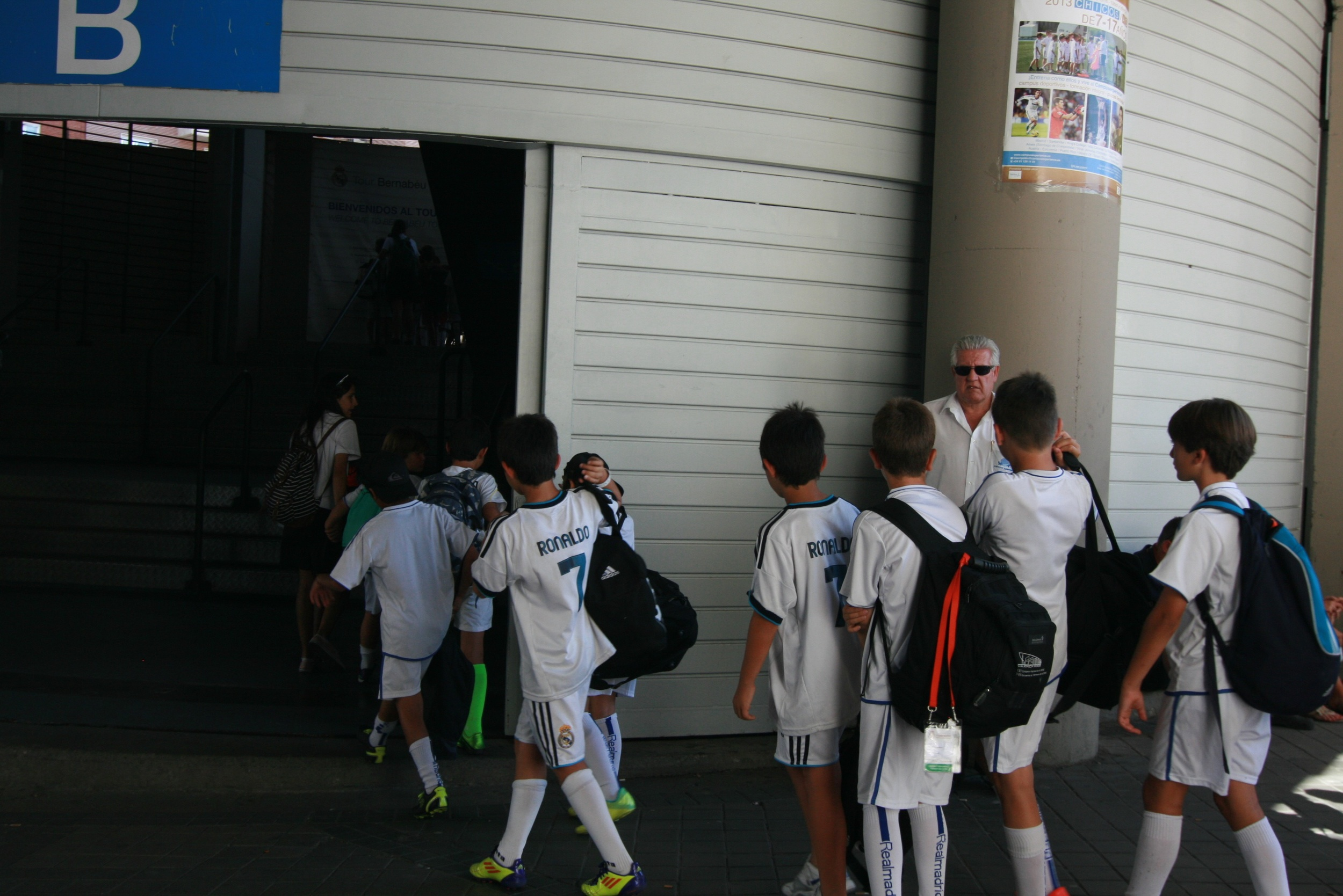 We got there just as a kids' soccer camp was heading in. Almost all of them were wearing Ronaldo jerseys.