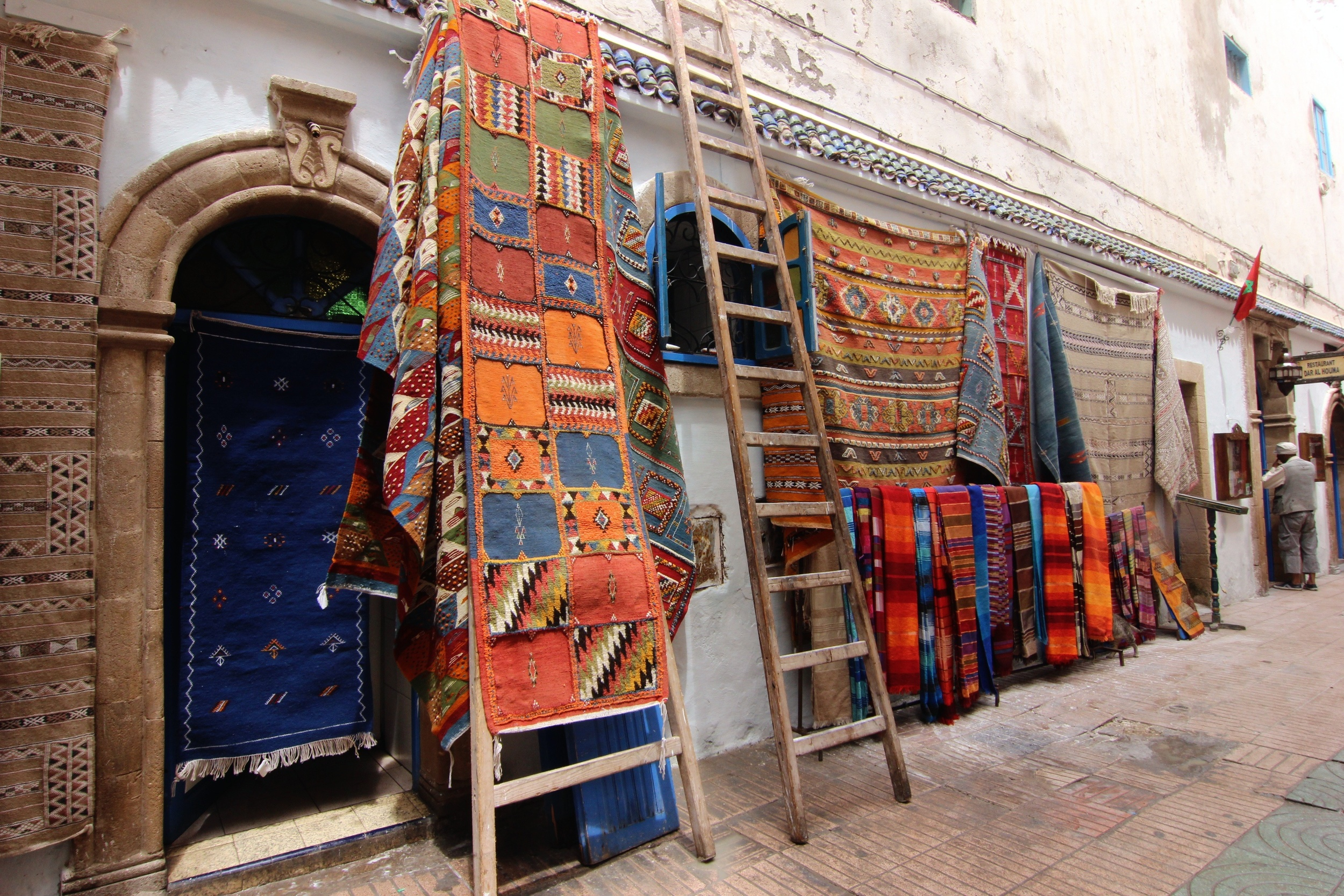 "Taken in Essaouira, but I had a real bad time at a carpet shop in Fez. In the end I left with two very pretty, but expensive, blankets. Lesson learned: never accept food or beverage from the owner - it weighs too much on your conscience when you contemplate leaving empty-handed despite all their mutterings about hospitality and ""no pressure, no pressure."""